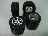 HPI Mini Recon Mounted VT Tire and Wheel Set (4 pcs)