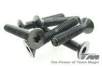 R33030-TMA126312 - Robitronic Hurricane and Team Magic E6 Trooper 3x12mm Steel F.H. Screws - 6 pcs