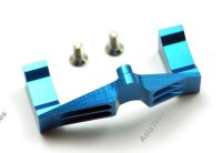 RC18T Aluminum Servo Mount 1PC Set Blue
