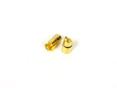 6.0mm Sprung Gold Connectors Male/Female Pair