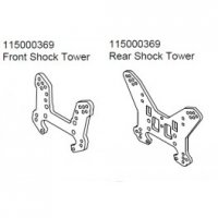 Ansmann Racing 115000369 - Front And Rear Shockstay For Terrier