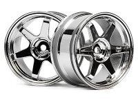 HPI 3842 - TE37 Wheel 26mm Chrome 3mm Offset - 2 Pcs