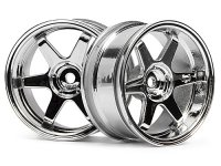 HPI 3847 - TE37 Wheel 26mm Chrome 6mm Offset - 2 Pcs