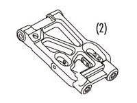 Ansmann Racing 4150-0005 - Rear Lower Suspension Arms for Virus 2 And 3