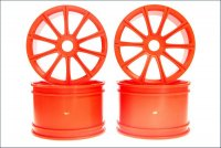 Kyosho ISH050KO - Ten-Spoke Wheels Orange - 4 Pcs