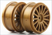 Kyosho TRH121GL - DRX 15 Spoke Gold Wheels - 2 Pcs