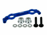 3Racing MR3-20/V2 - MR-03 Wide Front Upper Suspension Mount Ver. 2 - Blue