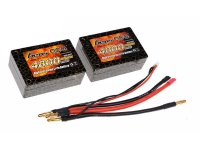 4800mAh Gens Ace 25-50C1S3P 7.4V Saddle Pack Lipo Battery