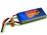 3500mAh Gens Ace 2S1P 7.4V Receiver Lipo Battery Pack