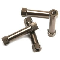 Kyosho IFW401B - Inferno SP Aluminum Radio Posts in Gunmetal - 4 Pcs