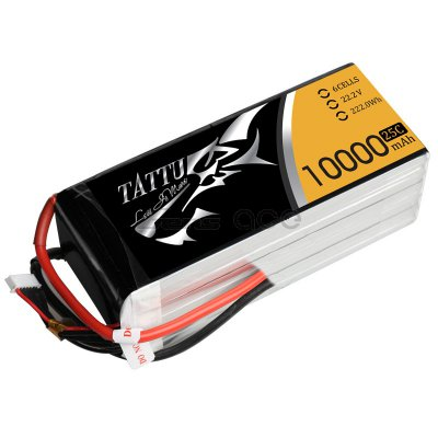 10000mAh Tattu 25-50C 6S1P 22.2V LiPo Battery Pack
