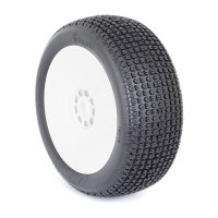 AKA Catapult 1:8 Buggy Medium Compound Tires With White Rims - 14016MRW