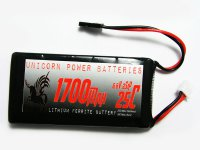 1700mAh Unicorn 6.6V LiFe Battery Straight Flat Pack
