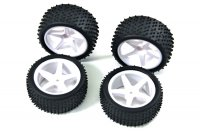 "Absima 2500006 - 1/10 Buggy ""5 Spoke"" Dirt Tyre Set - 4 Pcs"