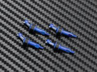 Atomic Racing AWD211-NB - Alu 6061 Blue AWD Universal Shaft - 4 Pcs