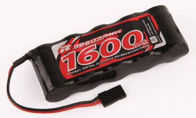 1600mAh Robitronic NiMH 6V RX Straight Battery Pack