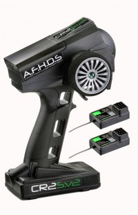 Absima CR2S.V2 - A.F.H.D.S. 2.4GHz 2 Channel Radio System With 2 receivers ( Tx + 2 x Rx ) - 2000101