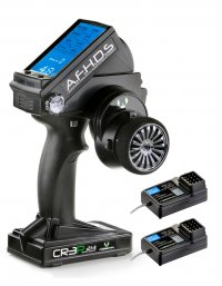 Absima CR3P - AFHDS 2.4GHz 3 Channel Radio System With 2 receivers ( Tx + 2 x Rx ) - 2000102