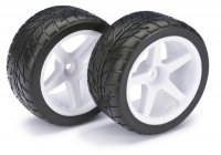 "Absima 1/10 Buggy ""5-Spoke / Street"" Rear Mounted Tyres 2 Pcs  - 2500008"