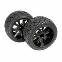 Absima 1/10 Buggy / Truggy on-road Black Mounted Tires 2 Pcs - 2500014