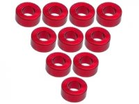 3Racing Red Aluminium M3 Flat Washer 2.5mm 10 Pcs - 3RAC-WF325/RE