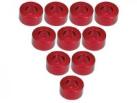 3Racing Red Aluminium M3 Flat Washer 3.0mm 10 Pcs - 3RAC-WF330/RE