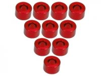 3Racing Red Aluminium M3 Flat Washer 3.5mm 10 Pcs - 3RAC-WF335/RE