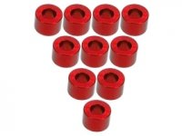 3Racing Red Aluminium M3 Flat Washer 4.0mm 10 Pcs - 3RAC-WF340/RE