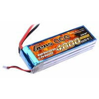4000mAh Gens Ace 25-50C 3S1P 11.1V LiPo Battery