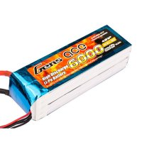 6000mAh Gens Ace 35-70C 4S1P 14.8V Lipo Battery Pack