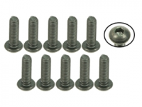 3Racing M3 x 10 Titanium Button Head Hex Socket Machine Screws 10 Pcs - TS-BSM310M