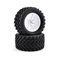 Fastrax FAST0067W - Mega-V Truck Tyres with White Rims - 2 Pcs