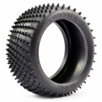 Fastrax FAST0285-M - 1/8 Twister Medium Truggy Spike Tyres - 2 Pcs