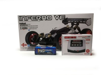 1/ 8 Racing Buggy - Kyosho Inferno VE 2.4GHz Readyset Combo with Chrager and Battery - 34101T2B