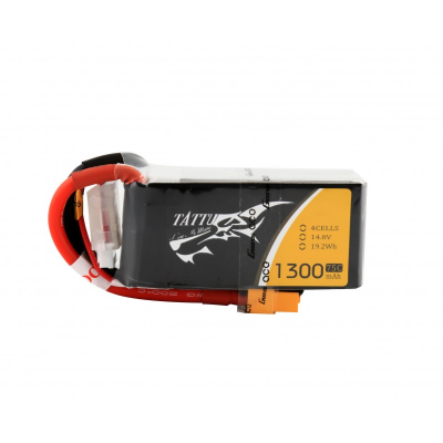 1300mAh Tattu 75-150C 4S1P 14.8V Lipo Battery Pack
