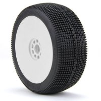 AKA ZIPPS Soft Long Wear Pre-Mounted Tires with White EVO Rims - 14020XRW