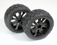 Absima 1:10 Buggy Front On-road Tires with black Rims - 2500013