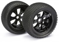 Absima 2520013 - Truggy/Monster LP Dirt  Tyres with Black Rims - 2 Pcs