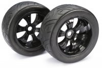 "Absima 2530006- Truggy/Monster LP Truggy ""Street"" Tires with Black Rims - 2 Pcs"