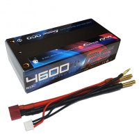 4600mAh Gens Ace 60-120C 2S1P 7.4V Hardcase Short Lipo Battery