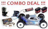 COMBO DEAL - 1/8 AGAMA A215 Nitro Buggy Kit + Alpha Club Racer + Argus 2081 Pipe set + PowerHD Servos
