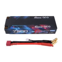 7500mAh Gens Ace 100C 2S1P 7.6V RS High Voltage Hardcase LiPo Battery