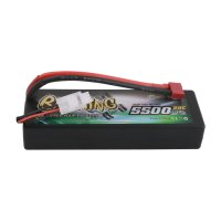 5500mAh Gens Ace 50C 2S1P 7.4V Hardcase Bashing Series LiPo Battery