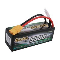 5500mAh Gens Ace 50C 4S1P 14.8V Hardcase Bashing Series LiPo Battery