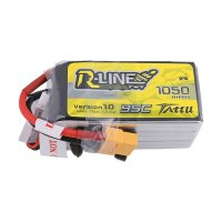 1050mAh Tattu R-Line 95C 22.2V 6S1P Lipo Battery Pack with XT60 plug