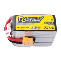 1550mAh Tattu R-Line 95C 6S1P Lipo Battery Pack with XT60 plug for FPV Racing