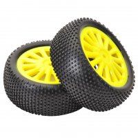 Absima 1/10 4WD Front Mounted Tires - TG401