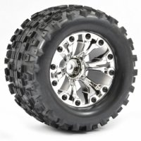 Fastrax 1:10 Stinger Monster Truck Mounted Tires - FAST1221C