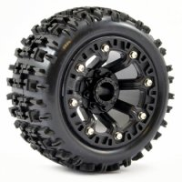 FASTRAX FAST1300B - 1:16 JIGSAW Mounted Tyres (Revo/Summit/Savage XS) - 2 Pcs