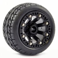 Fastrax FAST1301B - 1:16 Ealge Mounted Tyres (Revo/Summit/Savage XS) - 2 Pcs